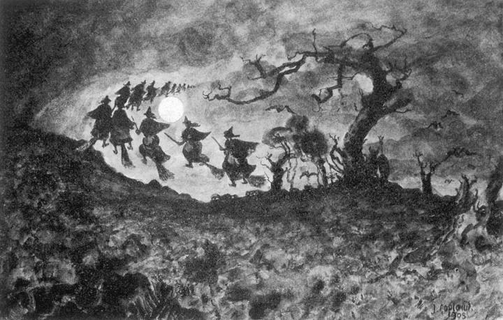 the-witches-ride-mary-evans-picture-library