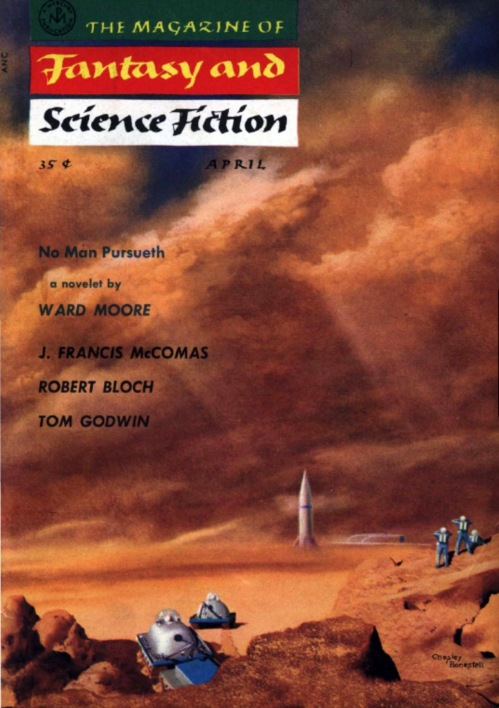 1956-04 The Magazine of Fantasy and Science Fiction Chesley Bonestell