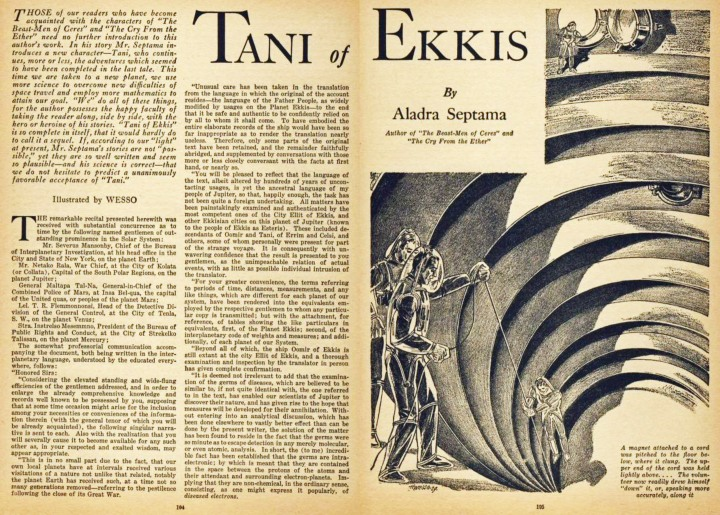 Tani of Ekkis by Aladra Septama