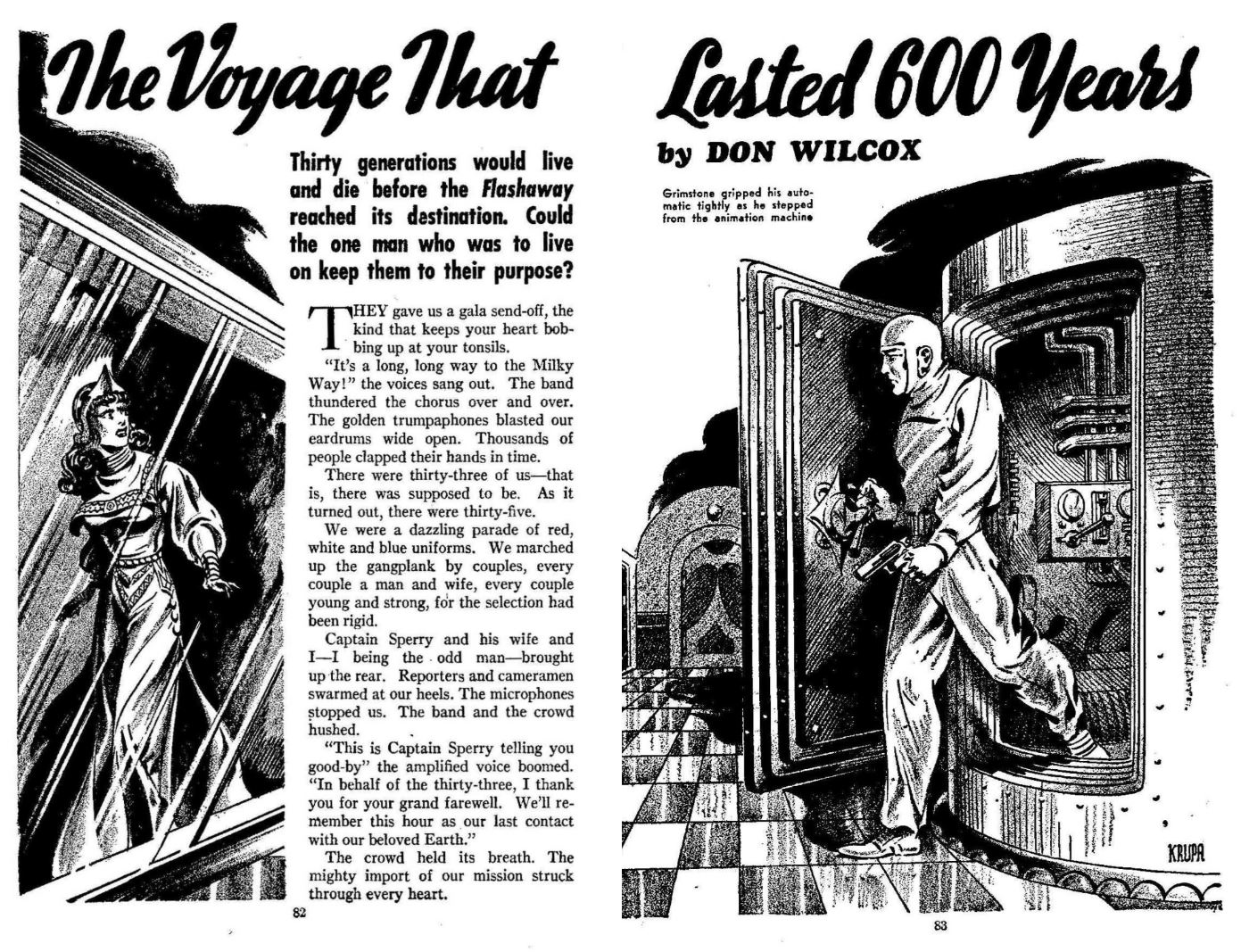 The Voyage that Lasted 600 Years by Don Wilcox 1940
