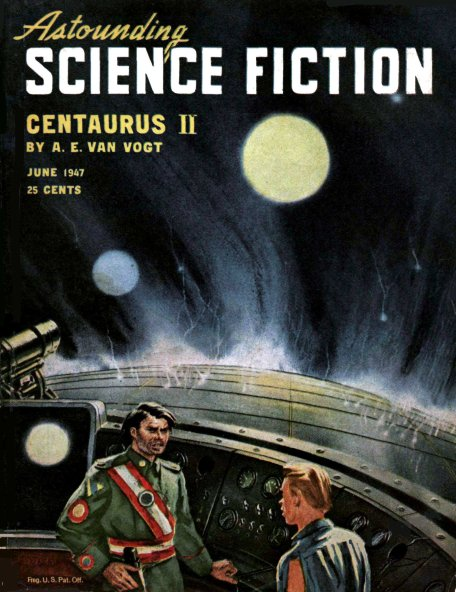 Centaurus II by A. E. van Vogt - cover Astounding June 1947