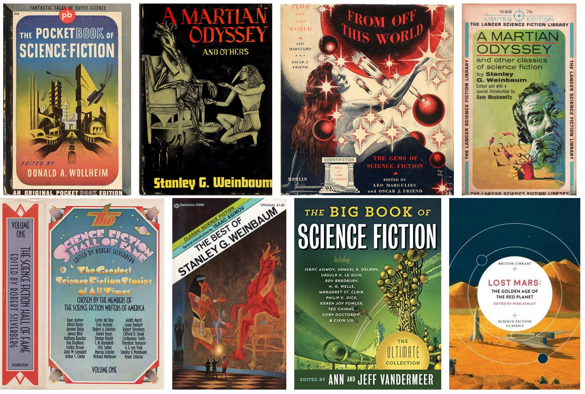 A Martian Odyssey in 8 anthologies